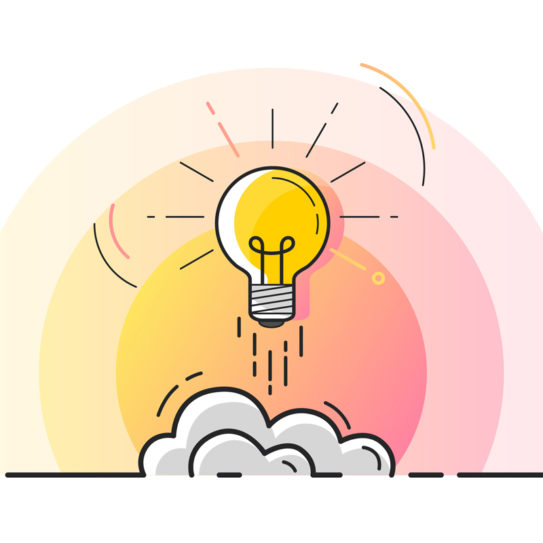 a graphic depicting a lightbulb representing ideas