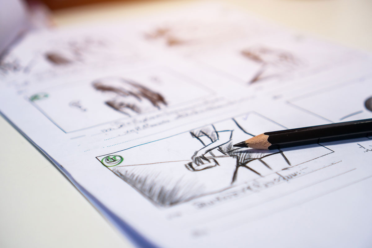 a storyboard is used by videographers during the pre-production process for visualizing ideas